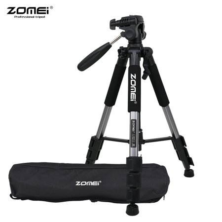 """ZOMEI Q111 142cm/56"""" Lightweight Portable Aluminum Alloy Camera Travel Tripod with Quick Release Plate/ Carry Bag for Canon Nikon Sony DSLR Smartphone ..."""