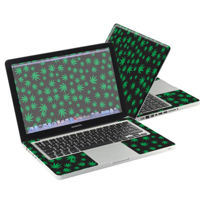 "MightySkins Protective Vinyl Skin Decal for Apple MacBook Pro 13"" wrap cover sticker skins Marijuana"