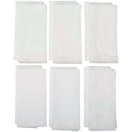 Mainstays Arctic White Napkins Set 12 ct Pack