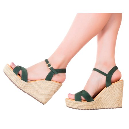 479f9c181c VIDALeather - Vida Leather Women Ankle Tie Platform Espadrille Sandals