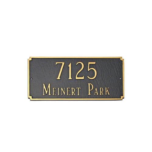 Montague Metal Products Inc. Estate Madison Address Plaque