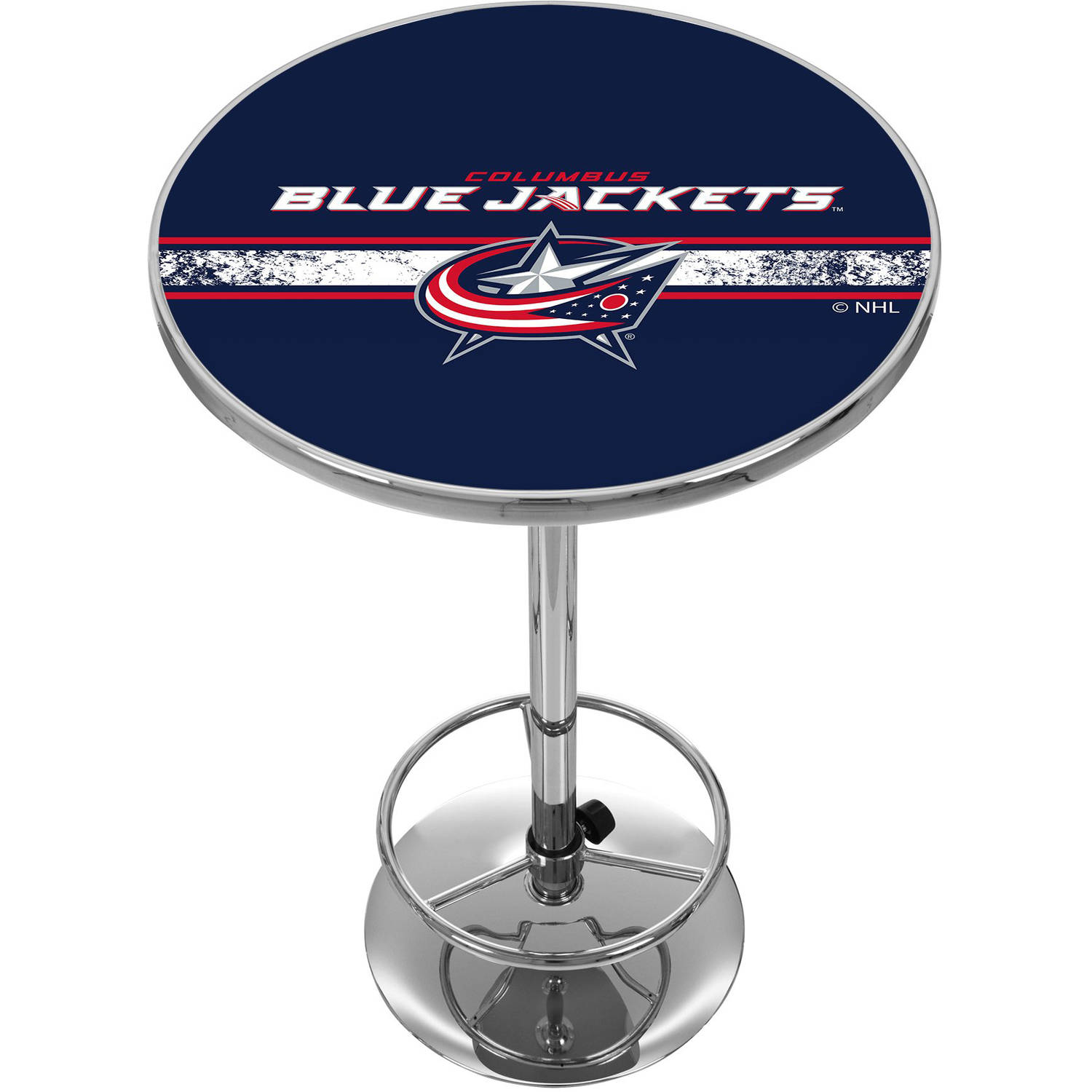 NHL Chrome Pub Table, Columbus Blue Jackets