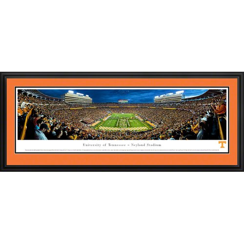 Blakeway Worldwide Panoramas, Inc NCAA University of Tennessee - Power ''T'' by James Blakeway Framed Photographic Print