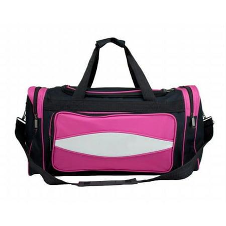 Brybelly SCOA-503 20 Inch Pink 600HD Tuff Cloth Canvas Duffel Bag