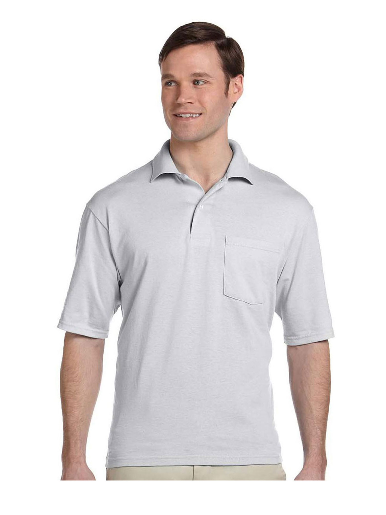 Jerzees Men's Five Point Left Chest Pocket Polo Shirt, Style 436MP