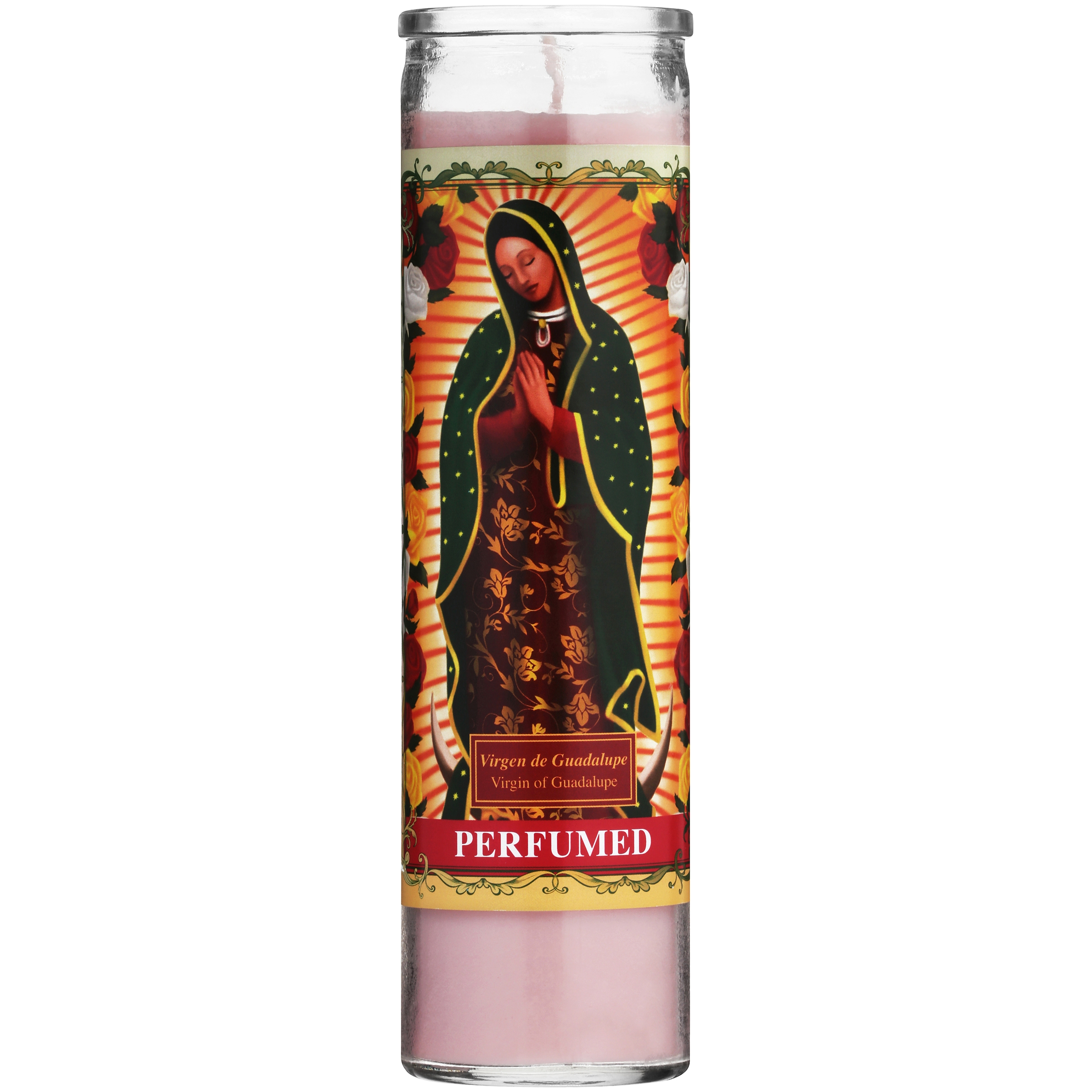 Scented Virgin de Guadalupe Candle, Pink