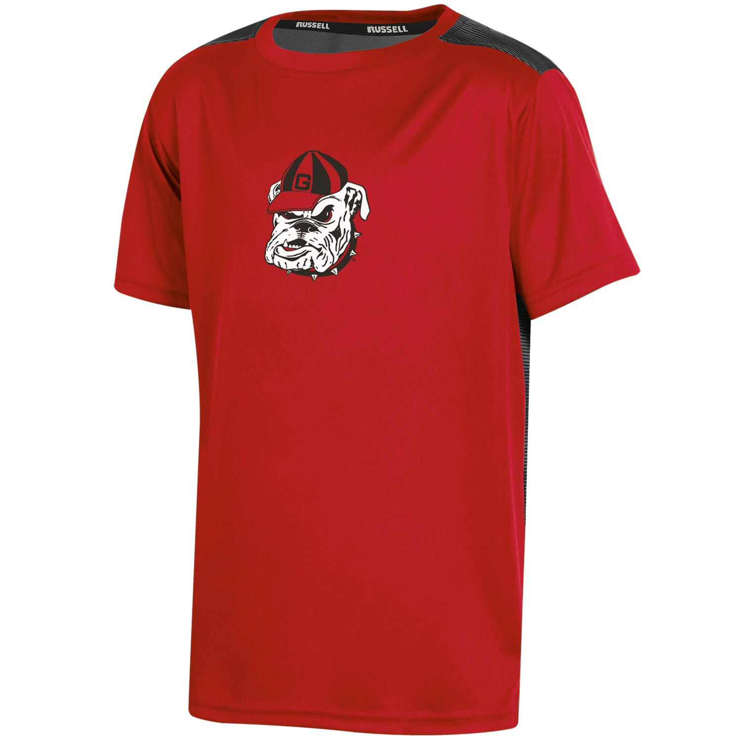 Youth Russell Red Georgia Bulldogs Color Block T-Shirt