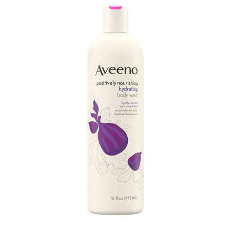 Aveeno Positively Nourishing Body Wash, Fig & Shea Butter, 16 fl. oz Aloe Butter Body Wash