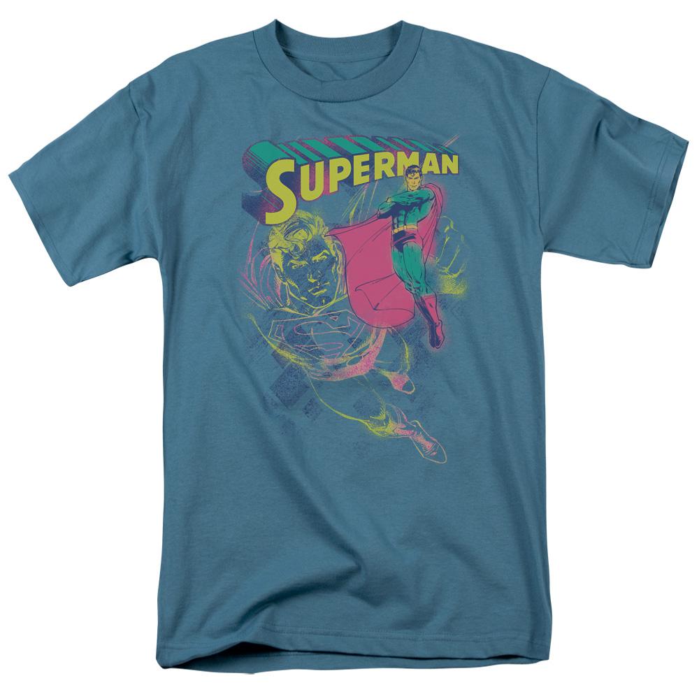 SUPERMAN/SUPER SPRAY - S/S ADULT 18/1 - SLATE - 3X