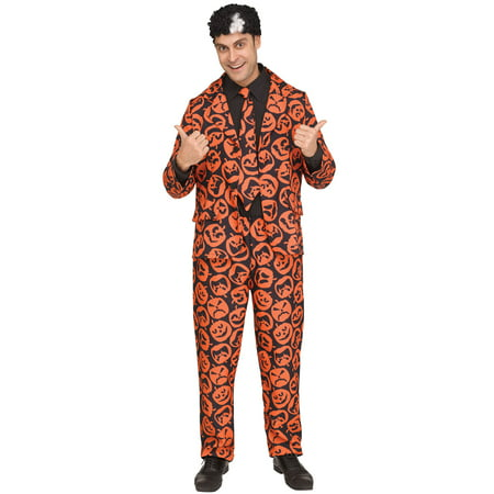 SNL David S. Pumpkin Men's Adult Halloween Costume, One Size, (44) (Pumpkin Head Halloween Dance)