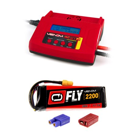 Venom Fly 30C 3S 2200Mah 11 1V Lipo Battery With Uni 2 0 Plug And Venom Pro Charger 2 Lipo And Nimh Battery Charger Combo