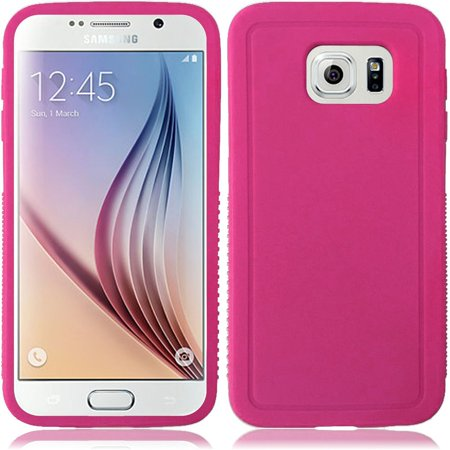 For Samsung Galaxy S6 Thick Rugged Solid TPU Flexible Candy - Hot Pink