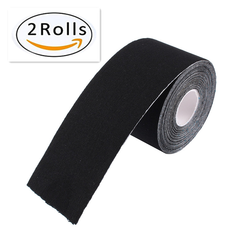 2 Inch/×16.4 Ft Kinesiology Tape N.C.D Waterproof Muscle Tape for Athletes Shoulder Back Muscles Joints Sports Flex Seal Elastic Fitness Patch Pack of 3 Black