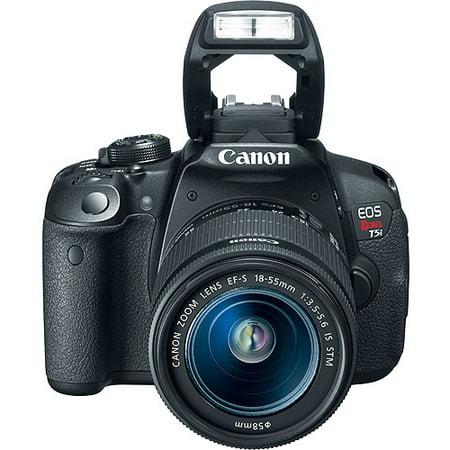 Canon Black EOS Rebel T5i Digital SLR with 18 Megapixels and 18-55mm Lens  Included