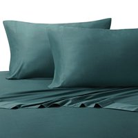 100% Bamboo Bed Sheet Set - Olympic Queen, Solid Teal - Super Soft & Cool, Bamboo Viscose, 4PC Sheets