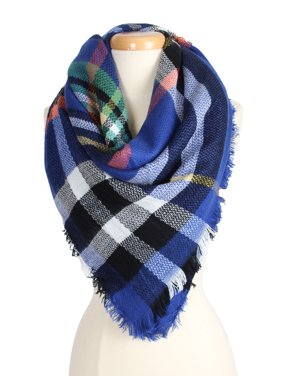 Women's Warm Plaid Pattern Tartan Multi Color Scarf for Cold Fall Winter Season for Women