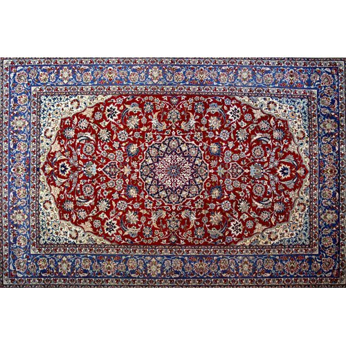 Isabelline One-of-a-Kind Pitchford Hand-Knotted 8'5'' x 12'10'' Red/Purple Area Rug
