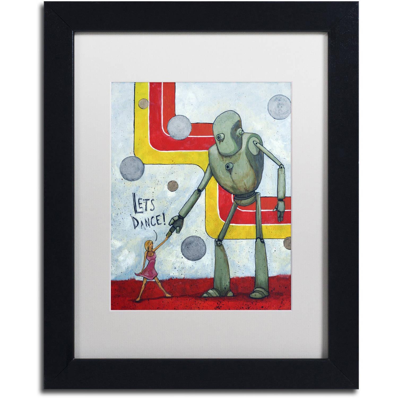 Trademark Fine Art 'Let's Dance' Canvas Art by Craig Snodgrass, White Matte, Black Frame