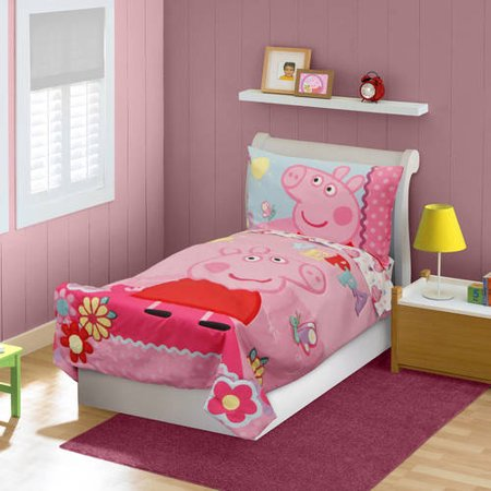 Peppa Pig 4 Piece Toddler Bedding Set