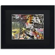 "Trademark Fine Art ""Anyone Now"" Canvas Art by Dan Monteavaro Black Matte, Black Frame"