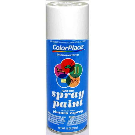 ColorPlace Flat Spray Paint, White (Uv Reactive Spray Paint)