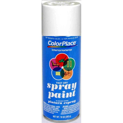 ColorPlace Flat Spray Paint, White