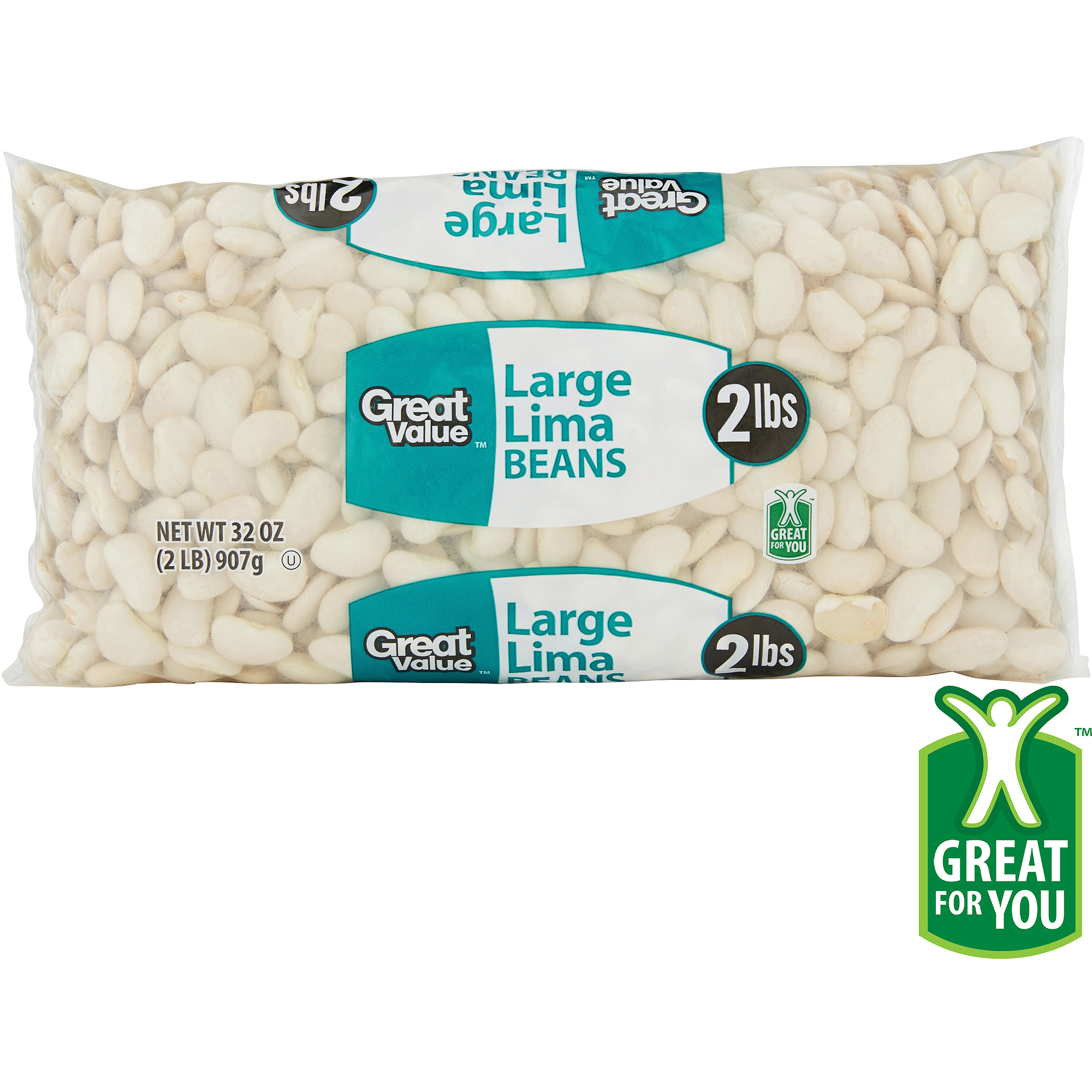Great Value: Large Lima Beans, 32 Oz