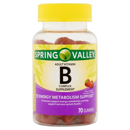 Spring Valley adultes Gummy B-Complex jujubes supplément de vitamine, 70 count