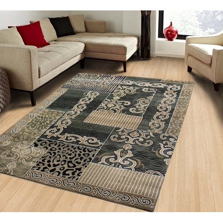 Green Persian Fl Oriental Formal Traditional Area Rug 8x10 Easy To Clean Stain Fade Resistant Shed