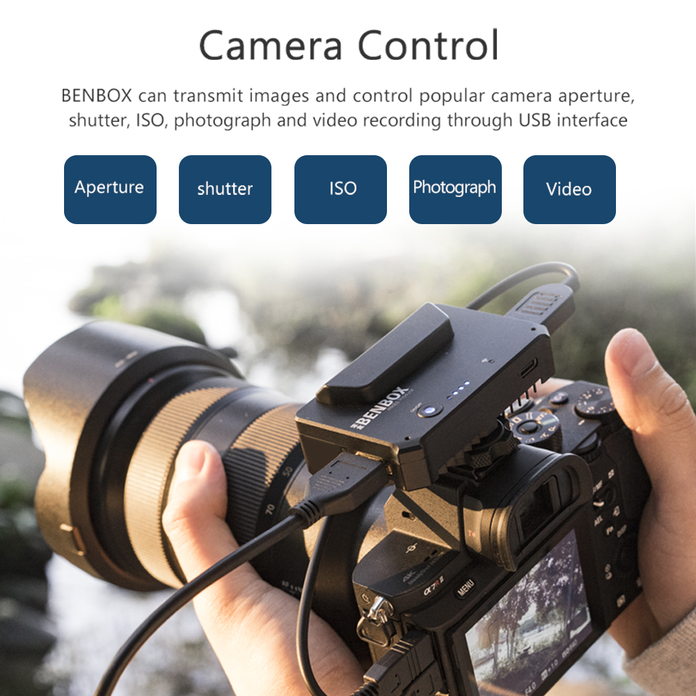 INKEE Benbox Video Transmitter W HDMI Built-in Cold Shoe 2.4G//5G WiFi Wireless Live Transmission to 4 Devices 1080p WiFi HDMI 300ft//100m Range Supports Android//iOS//Windows//Mac Incredibly Low Latency