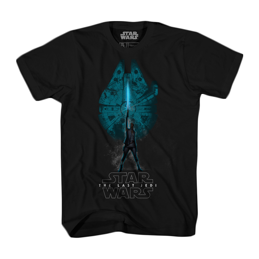 Star Wars: The Last Jedi Falcon Rey Graphic T-Shirt | 2XL
