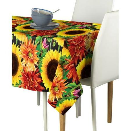 August Grove Boyuan Sunflower Garden Milliken Signature Tablecloth - Halloween Grove Gardens