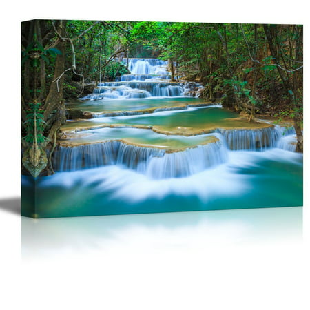 wall26 - Deep Forest Waterfall in Thailand - Canvas Art Wall Decor -