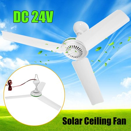 24V 6W 3 Leaves Plastic Blades Converter Motor Battery Mini Ceiling Fan With Switch +2.5m Cable For Solar Power Caravan Indoor Outdoor Camp Ceiling Fan Motor Replacement