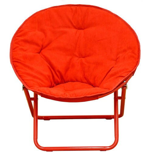American Kids Solid Faux-Fur Saucer Chair, Multiple Colors by Idea Nuova