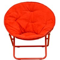 American Kids Solid Faux-Fur Saucer Chair, Multiple Colors