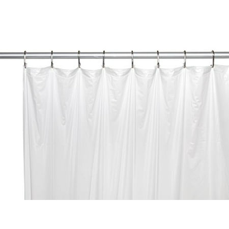 Royal Bath Extra Long 5 Gauge Vinyl Shower Curtain Liner With Metal Grommets In White