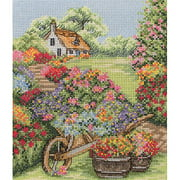 Anchor Counted Cross-Stitch Kit, Floral Wheelbarrow