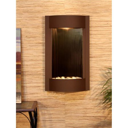 Adagio SWA3741 Serene Waters Woodland Brown Bronze Mirror Wall Fountain