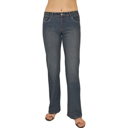 Womens D. Sand blue Stretch Jeans With Rhinstone #LD1 Size: 3