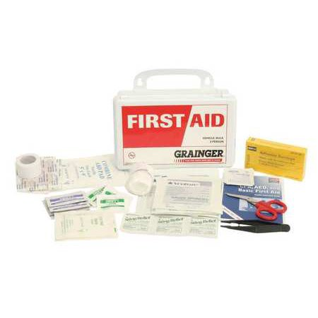 Z019842 First Aid Kit  Bulk  White  14 Pcs  3 People