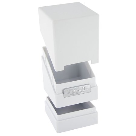 Monolith Deck Case 100+ Standard Size White Card Game, Cover has same size and shape as middle section; Cover can be used as a second card holder when.., By Ultimate Guard ()