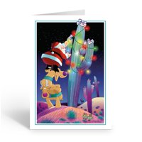 Stonehouse Collection Cactus Christmas Tree - Western Christmas Card - 40004