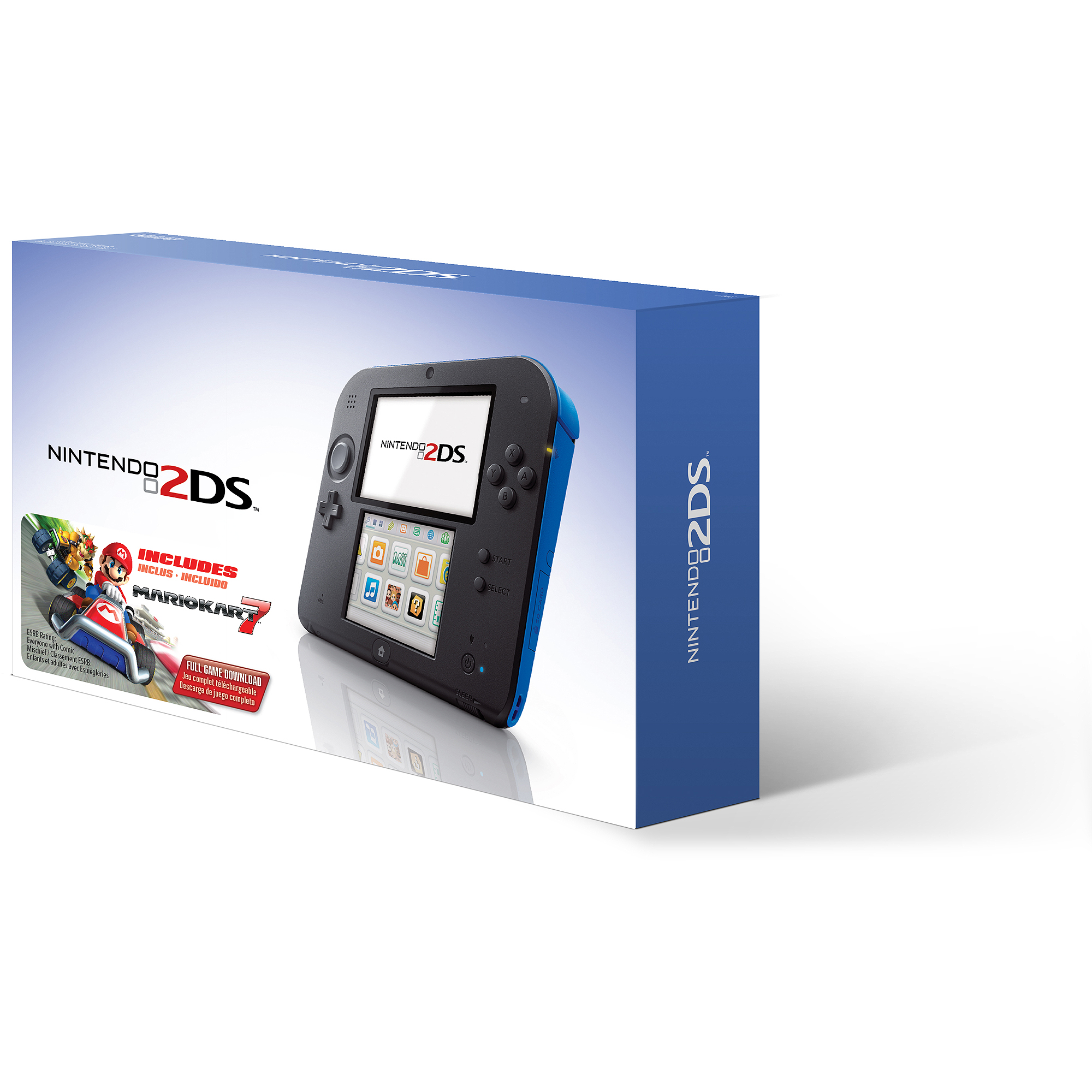 Nintendo 2DS with Mario Kart 7 Game, Electric Blue