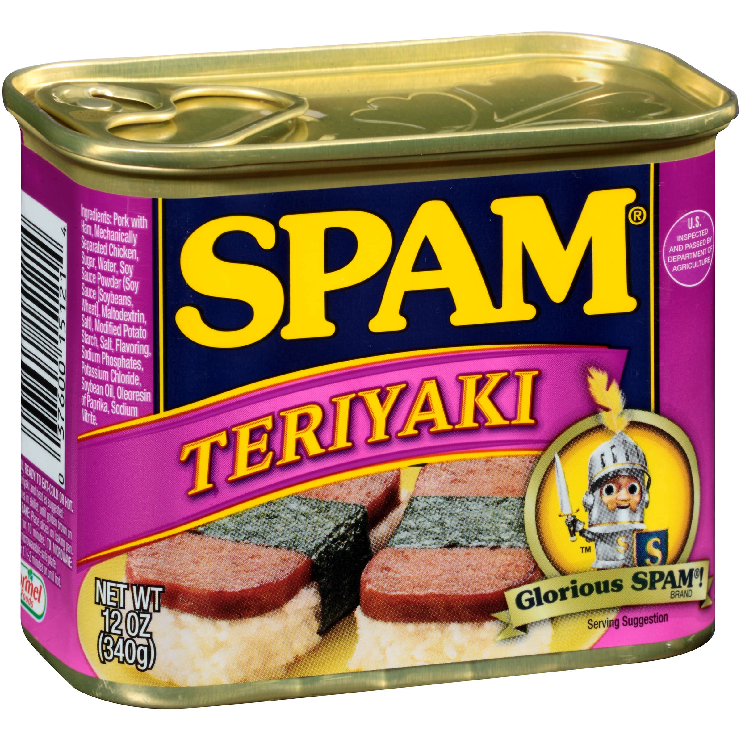 (2 Pack) SPAM Teriyaki Canned Meat, 12 oz