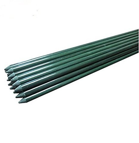 Ecostake Garden Stakes 4-Ft for Climbing Plants Supports Pole 20 Pack Rust-free Plant Sticks Fence Post by Wellco Industries Inc.