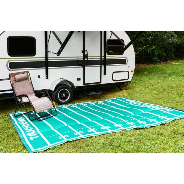 Camco 8 X 16 Reversible Rv Outdoor Mat Camping Mat American Football Field Walmart Com Walmart Com