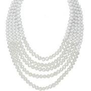 5-row Lantern Bead Statement Necklace, W