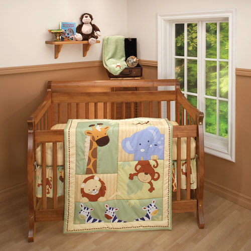 Little Bedding by NoJo - Safari Kids Crib Bedding 3-Piece Set