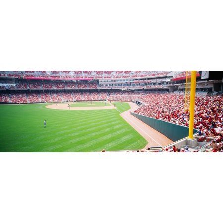 Spectators watching a baseball match in a stadium Great American Ball Park Cincinnati Ohio USA Stretched Canvas - Panoramic Images (27 x 9)